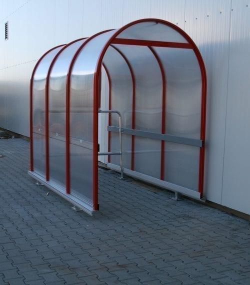 Akutec Rondo 2 rader rött kundvagnsgarage