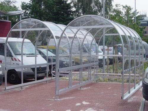 Alkutec Rondo grått kundvagnsgarage