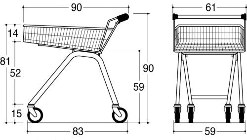 BXM Shopper Security 65L drawing