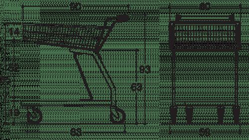 BXM Shopper Standard 65L Drawing