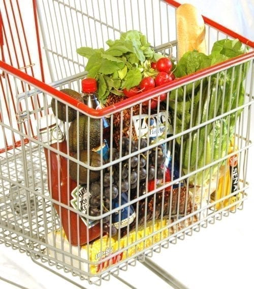 Divider for shopping trolley