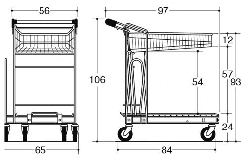 Caddie B75 & B95 trolley-drawing