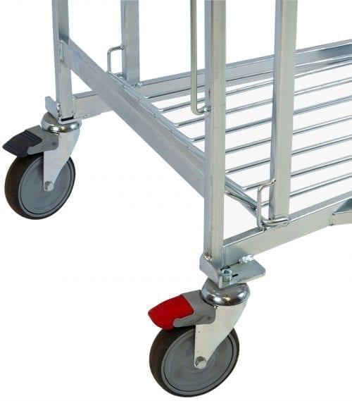 stabil ett riktningsspärrat och ett låsbart hjul