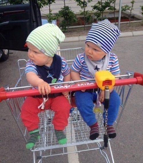 Barnstolsvagn för två