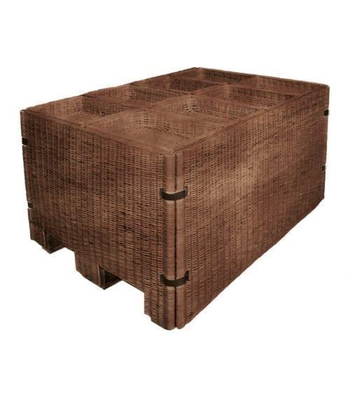 Naturkorgar Hansen - mörkbrun Exponeringspall med 8 korgar - Exact i Butik