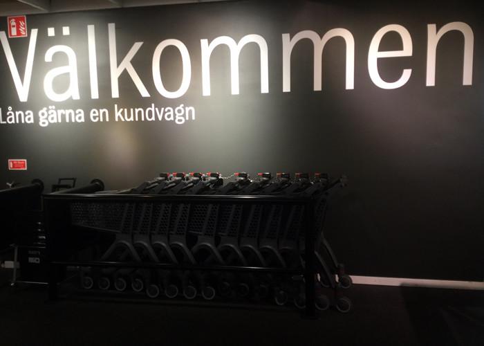Lätt kundvagn Polycart hos Mio i Västra Frölunda