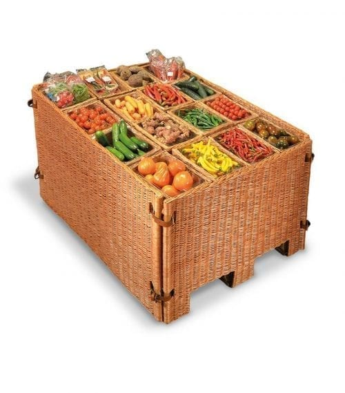 Naturkorgar Hansen - Light brown pallet display set with 16 baskets - Exact i Butik