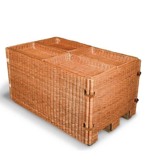 Naturkorgar Hansen - Exponeringspall ljusbrun med 4 korgar - Exact i Butik