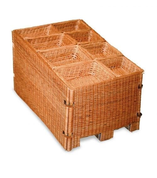 Naturkorgar Hansen - Light brown pallet display set with 8 baskets- Exact i Butik