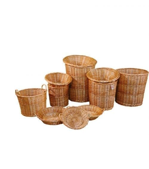 Naturkorgar Hansen - Display baskets light brown, start set - Exact i Butik