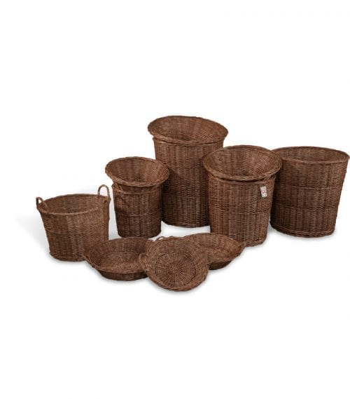 Naturkorgar Hansen - Display baskets dark brown, start set - Exact i Butik