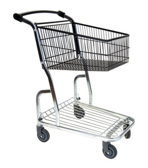 Trolley Compact Base 80L with lower shelf - Exact i Butik