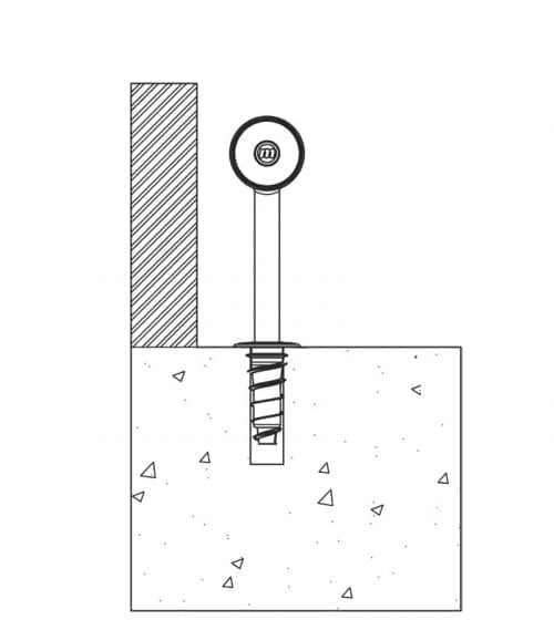 Påkörningsskydd CartStop Stainless Steel från McCue - ritning
