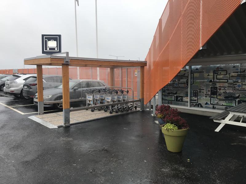 Bagagevagnsgarage Fi.MA på Arlanda, Swedavia - från Exact i Butik