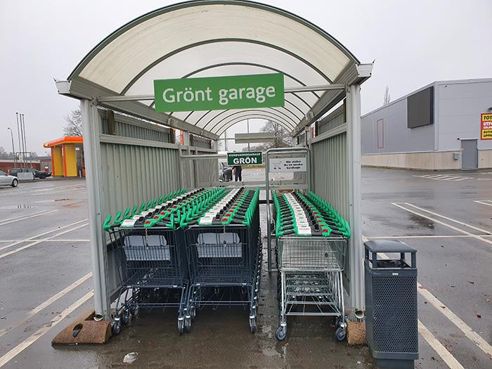 Maxi Vetlanda - grönt garage